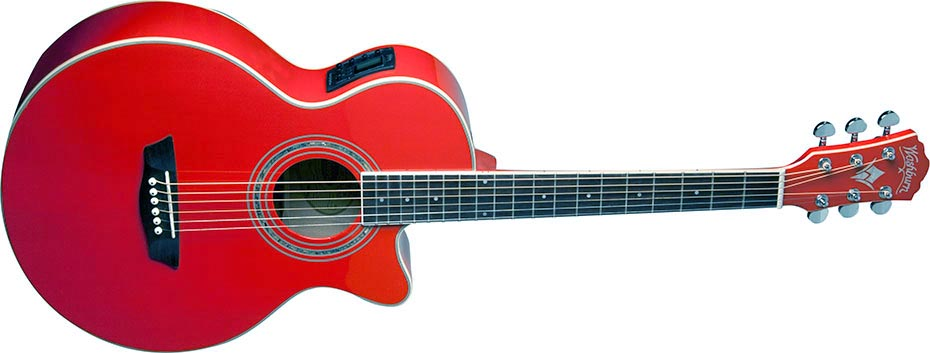 Washburn EA10 Electric petite Jumbo - Acoustic Guitar with + Dvd Bag Tuner plectrums