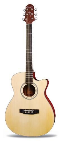 * CLEAROUT Crafter HTC-18EQ/NT Orchestra Cutaway Electro Acoustic Video