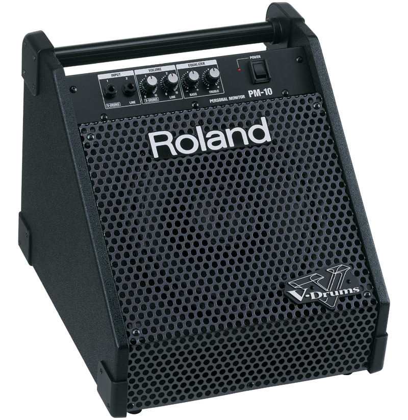 Roland PM-10 Personal Monitor Amplifier+ American audio HP550 headphones