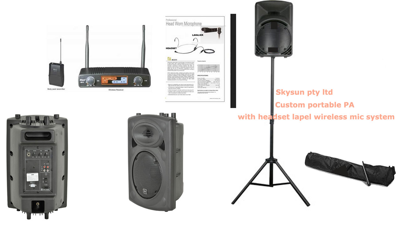 * BESTSELLER PA System including  DTECH SAUHF21BL+HS  single channel  wireless  lapel/headset diver AVAILABLE