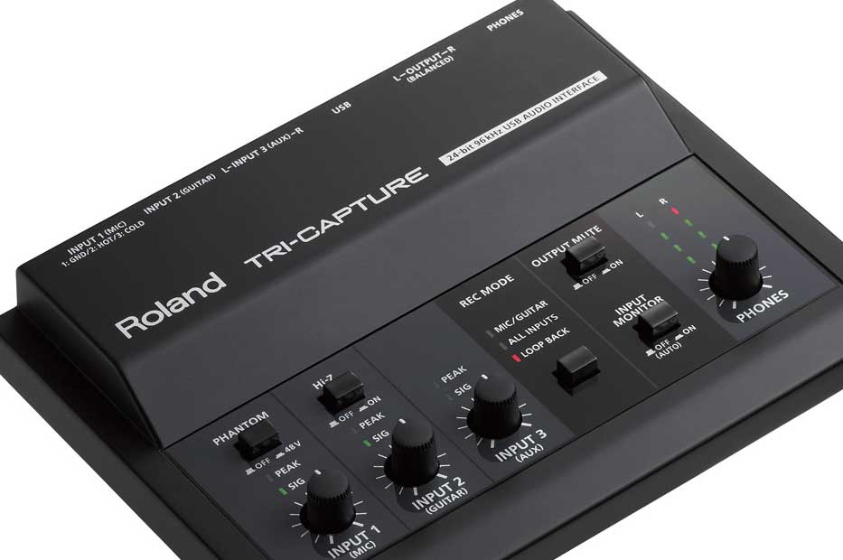 roland TRI-CAPTURE  USB Audio Interface (UA-33) with cakewalk sonar recording software