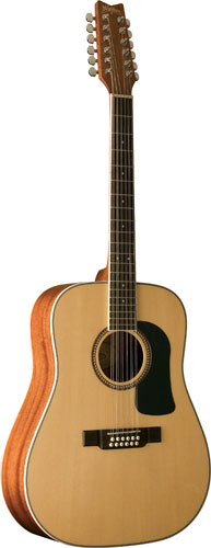 Washburn WD10S12 12-String Dreadnought Cutaway Acoustic