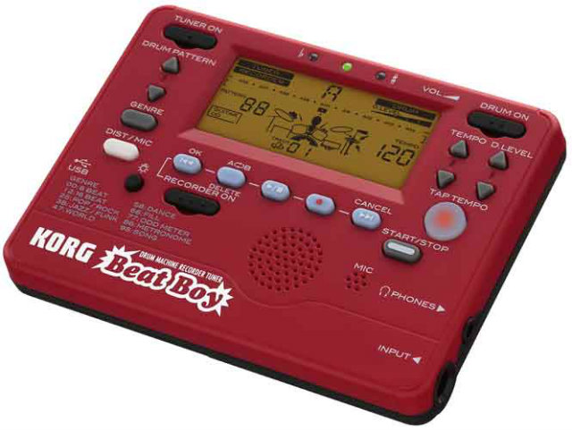 * NEW! Korg Beat Boy Digital recorder, tuner and metronome, 100 drum and guitar backing patterns VIDEO.