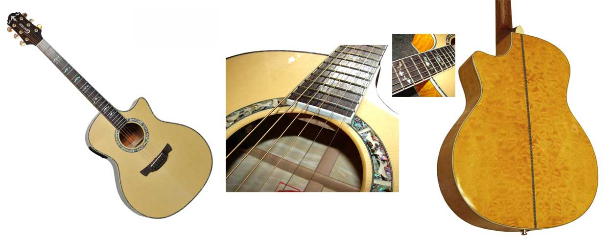 * Clearing . CRAFTER GAE 33N SOLID ENGELMANN SPRUCE TOP ELECTRIC ACOUSTIC