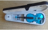 Courante violin outfit- BLUE SPARKLE LAQUER Full Size 44 :AGES 12 -adult including setup + 4 fine tuners *View CAPETOWN (3)