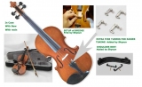 Courante violin outfit- antique stain ALL SIZES AGES 4 -adult including setup + shoulder rest + 4 fine tuners *View CAPETOWN