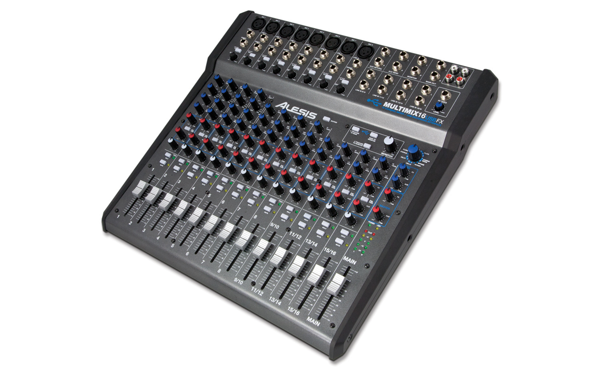 MultiMix 16 USB FX 16-Channel Mixer with Effects and USB Audio